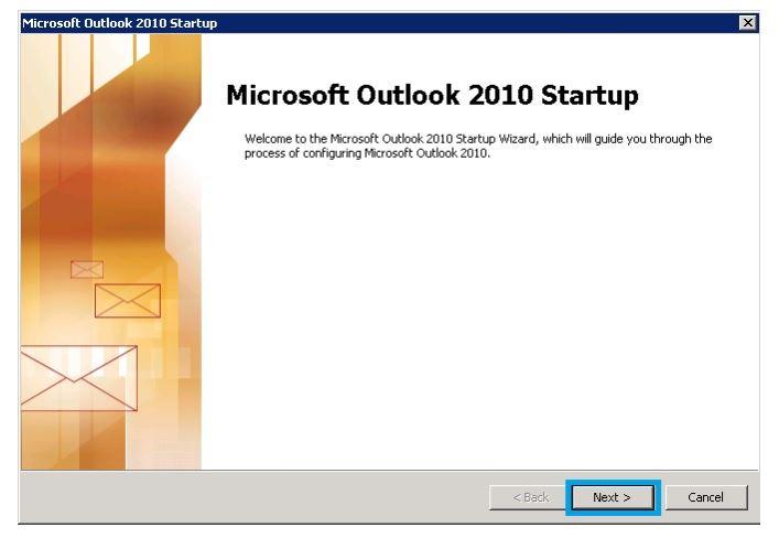 Khởi động phần mềm Outllook
