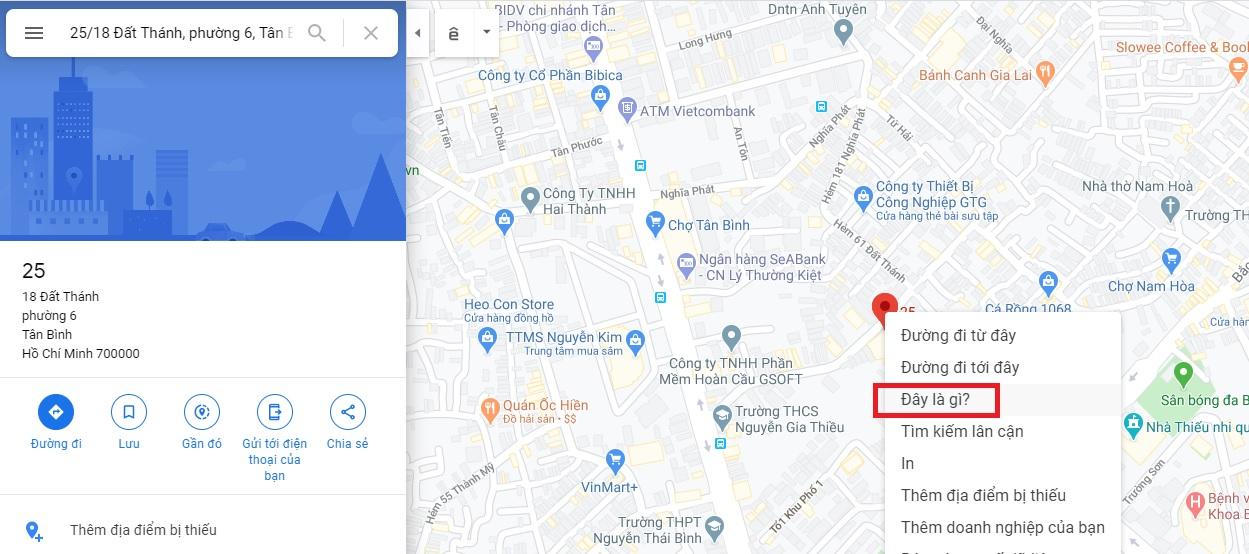 lấy tọa độ trên google map