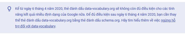 Data-vocabulary.org cũ cấu trúc không hoạt động