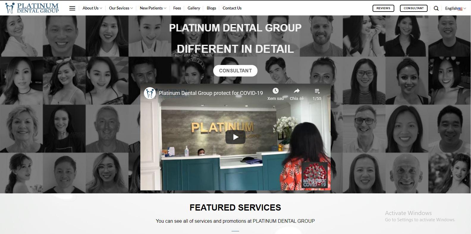 mãu website platiumdentalvietnam