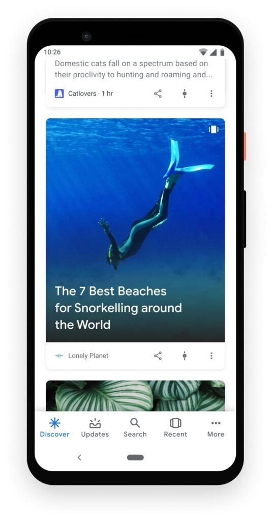 Stories trên Google khám phá