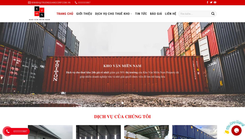 Website về cho thuê kho lạnh, container di động, … được thiết kế bởi WifiM
