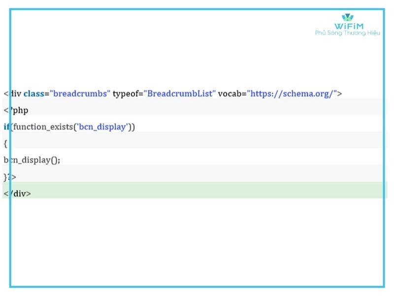 Snippet code breadcrumb dành cho WordPress