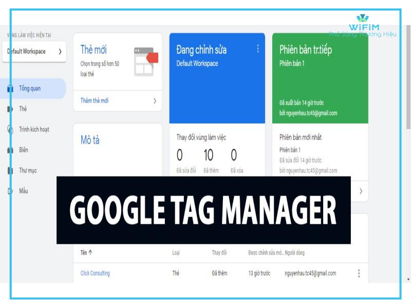 Thông tin về Google tag manager