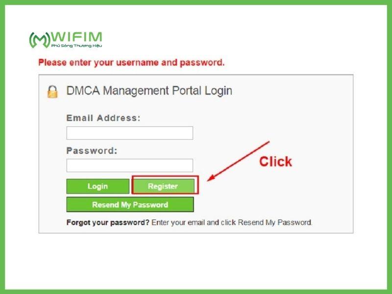 DMCA là gì? Bước đăng ký đầu tiên là nhấn nút đăng ký DMCA